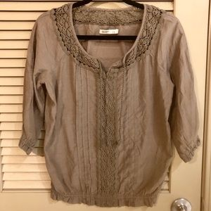 Olive Old Navy 3/4 Sleeve Top